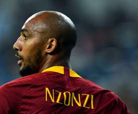 Nzonzi scored his first goal for Roma to help them into third. AFP