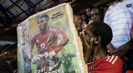 El asesinato de Meyiwa fue una conmoción para Sudáfrica. AFP