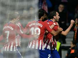 Godin scored the opener. AFP