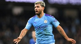 Aguero got on the scoresheet in Man City's comfortable 4-1 win over Port Vale. AFP