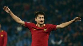 Cengiz Ünder también ha renovado con la Roma. AFP/Archivo