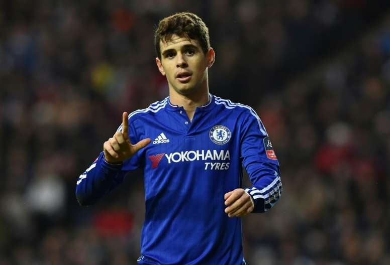 Brazilian midfielder Oscar joined Chelsea after a £25m transfer from Internacional in 2012. AFP