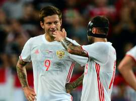 Smolov will lead his country at the World Cup this summer. AFP