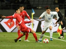 North Korea's footballers floored by South in Tokyo dust-up. AFP