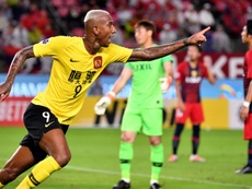 Talisca scored crucial away goal that took Guangzhou Evergrande into the semi-finals. AFP