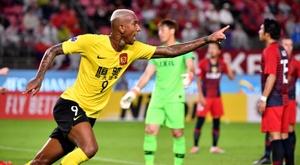 Talisca scored crucial away goal that took Guangzhou Evergrande into the semi-finals. AFP