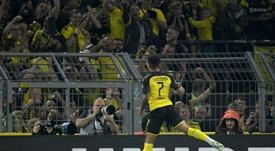 Jadon Sancho ha firmado una temporada brillante. AFP/Archivo
