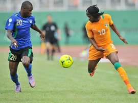 Tanzania captain Shomari Kapombe (L) conceded a penalty. AFP