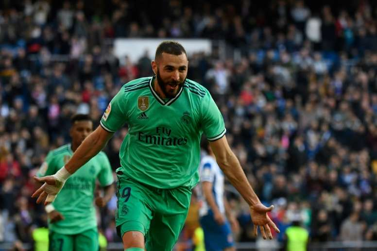 Benzema delivers again as Madrid cruise past Espanyol. AFP