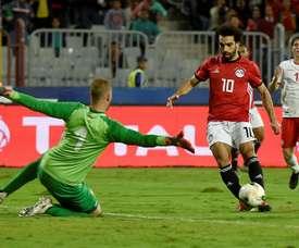 Salah aussi grandit sa légende dans son pays. AFP