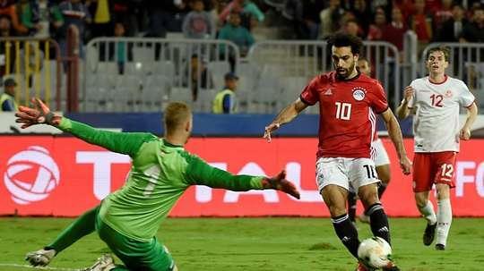Salah bagged a goal. AFP