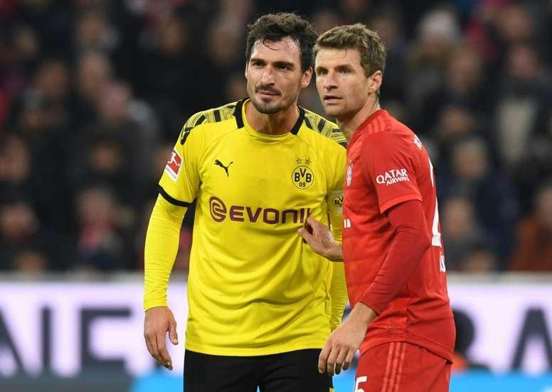 Mueller has welcomed a Dortmund challenge. AFP