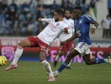 Lyons Memphis Depay claimed his first club assists of the season in the win at Strasbourg. AFP