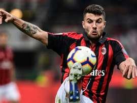Cutrone, del Milan a los 'Wolves'. AFP