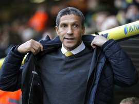 Chris Hughton is one of three BAME managers in the top two flights of English football. AFP