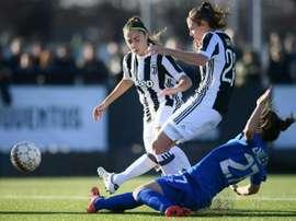 Juventus beat Fiorentina in the Italian women's Super Cup. AFP