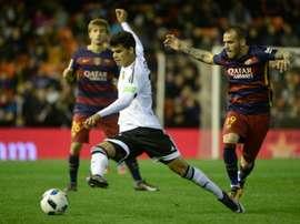 El futuro de Danilo parece lejos del Valencia. AFP