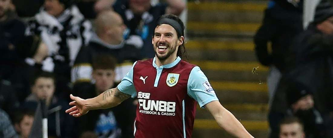 Burnleys midfielder George Boyd, pictured in 2015, scored in the second half against Stoke