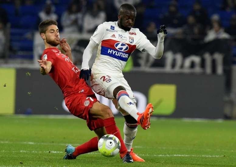 Tanguy Ndombélé a signé avec l'OL jusqu'en juin 2020. AFP