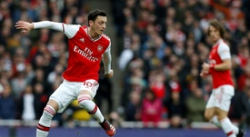 Mikel Arteta has talked about Mesut Ozil's possible Arsenal departure. AFP