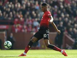 Marcus Rashford lors du match Manchester Utd - Watfort. AFP