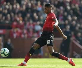 El United confirmó lesiones de Rashford y Bailly. AFP