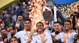 El Madrid ofrecerá la Supercopa al Bernabéu. AFP