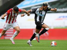 Newcastle beat Sheffield United after the Blades were reduced to 10 men. AFP