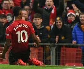 Rashford marcou dois dos quatro gols da goleada na estreia. Arquivo/AFP