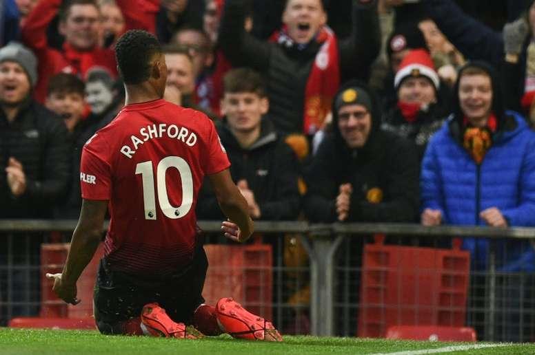 Rashford, objectif du Barça. AFP
