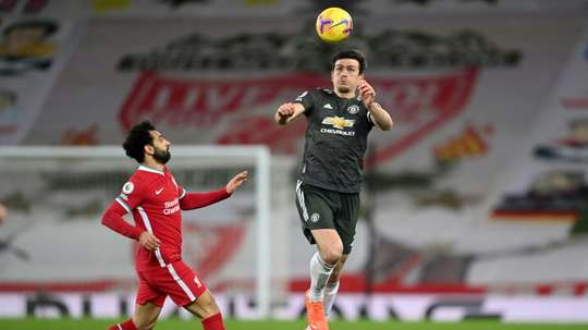 Maguire hails Man Utd progress. AFP