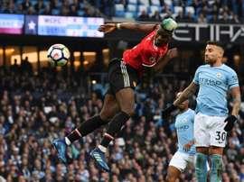 Les compos probables du match de Premier League entre Man United et Man City. AFP
