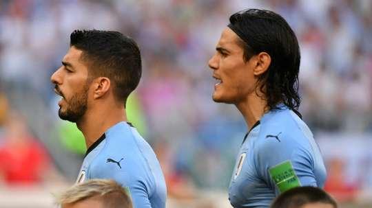 Cavani et Suárez, deux des piliers de l'Uruguay. AFP