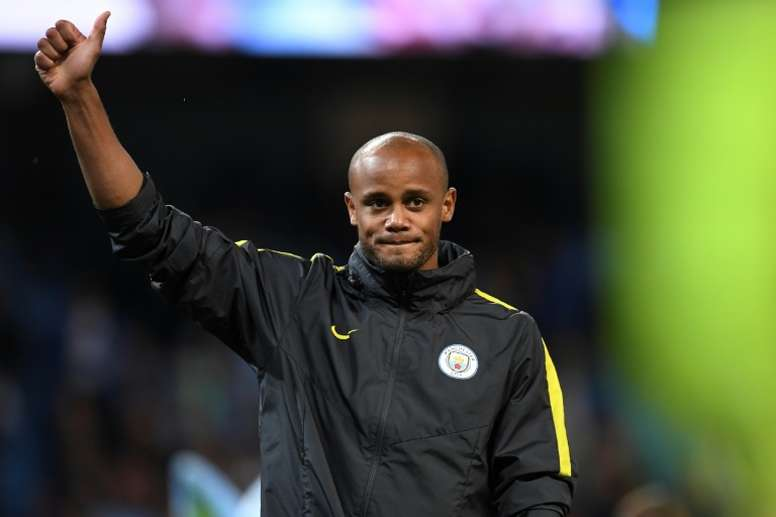 05adfe547 Pin Manchester City s Belgian captain Vincent Kompany suffered a calf  injury on international duty. AFP