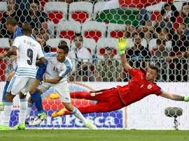 Italy dominated the match against Uruguay and won 3:0. AFP