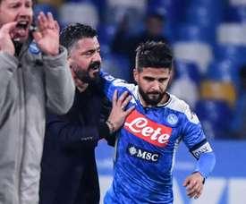 Gattuso, a chave no presente e no futuro de Insigne e Ospina. AFP
