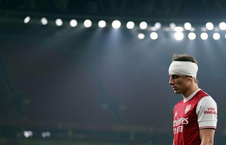 David Luiz played on until half-time despite clashing heads with Raul Jimenez. AFP