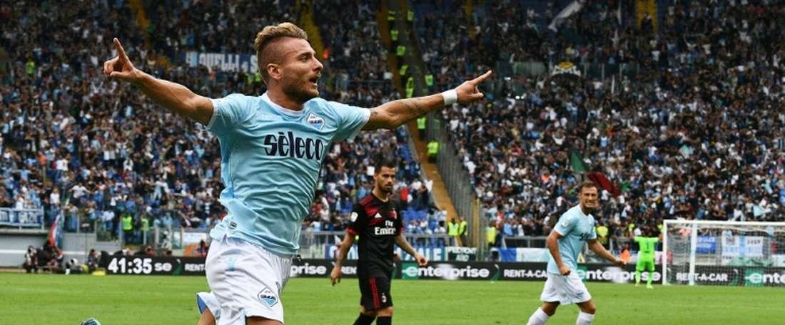 Immobile certificó el pase a la siguiente ronda de la Coppa. AFP/Archivo