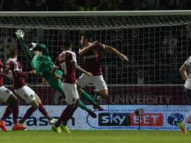 Northampton played Manchester United at the Sixfields stadium in 2016. AFP