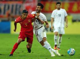 Zhang Yuning proved a real handful for Irans defence as China held Asias top-ranked side 0-0. AFP
