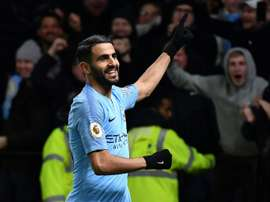 Riyad Mahrez scored Manchester Citys second goal in a 2-1 win at Watford on Tuesday. AFP