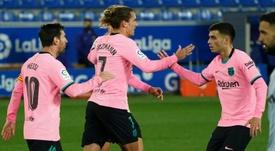 Griezmann sauve l'honneur du Barça. afp