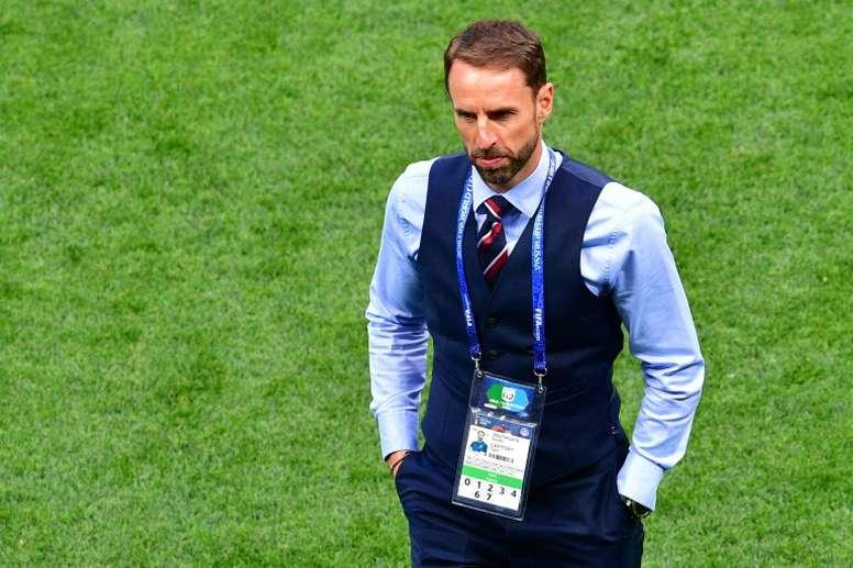 El técnico, abatido por la derrota de los suyos. AFP