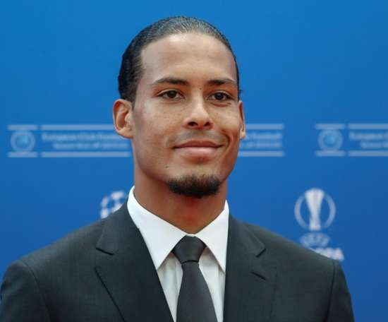 Van Dijk became the first defender to win the award. AFP