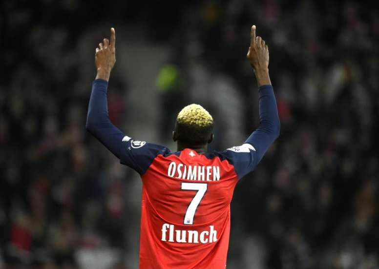Lille's Osimhen collects top Ligue 1 African honour. AFP