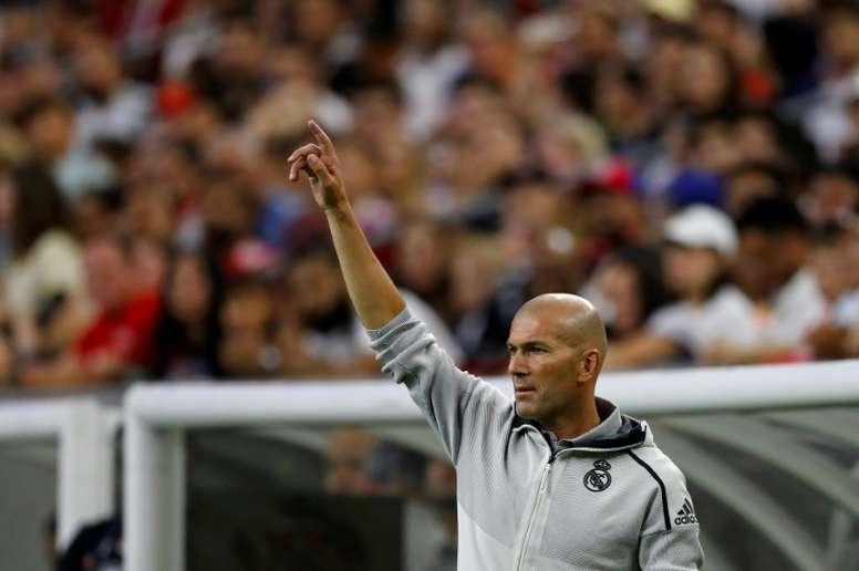 Les premiers choix de Zidane. AFP