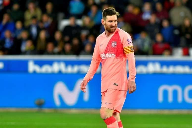 Messi a inscrit un doublé. AFP