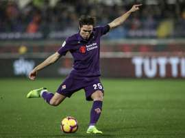 Federico Chiesa scored a hattrick as Fiorentina swept Roma aside. AFP