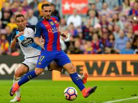 Alcacer gets a rare start against Hercules in the Copa del Rey. AFP