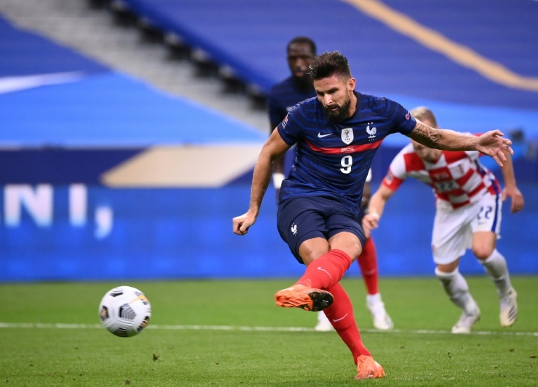 Giroud becomes France's second top scorer in Ukraine rout
